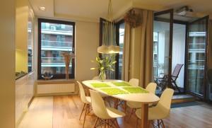 Projekt aranżacji wnętrza pokoju dziennego w mieszkaniu w Warszawie