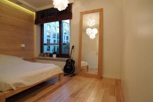 Projekt aranżacji wnętrza sypialni w mieszkaniu w Warszawie