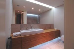 Projekt aranżacji wnętrza łazienki w mieszkaniu w Warszawie