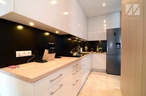 projekt aranżacaji wnętrza małej kuchni